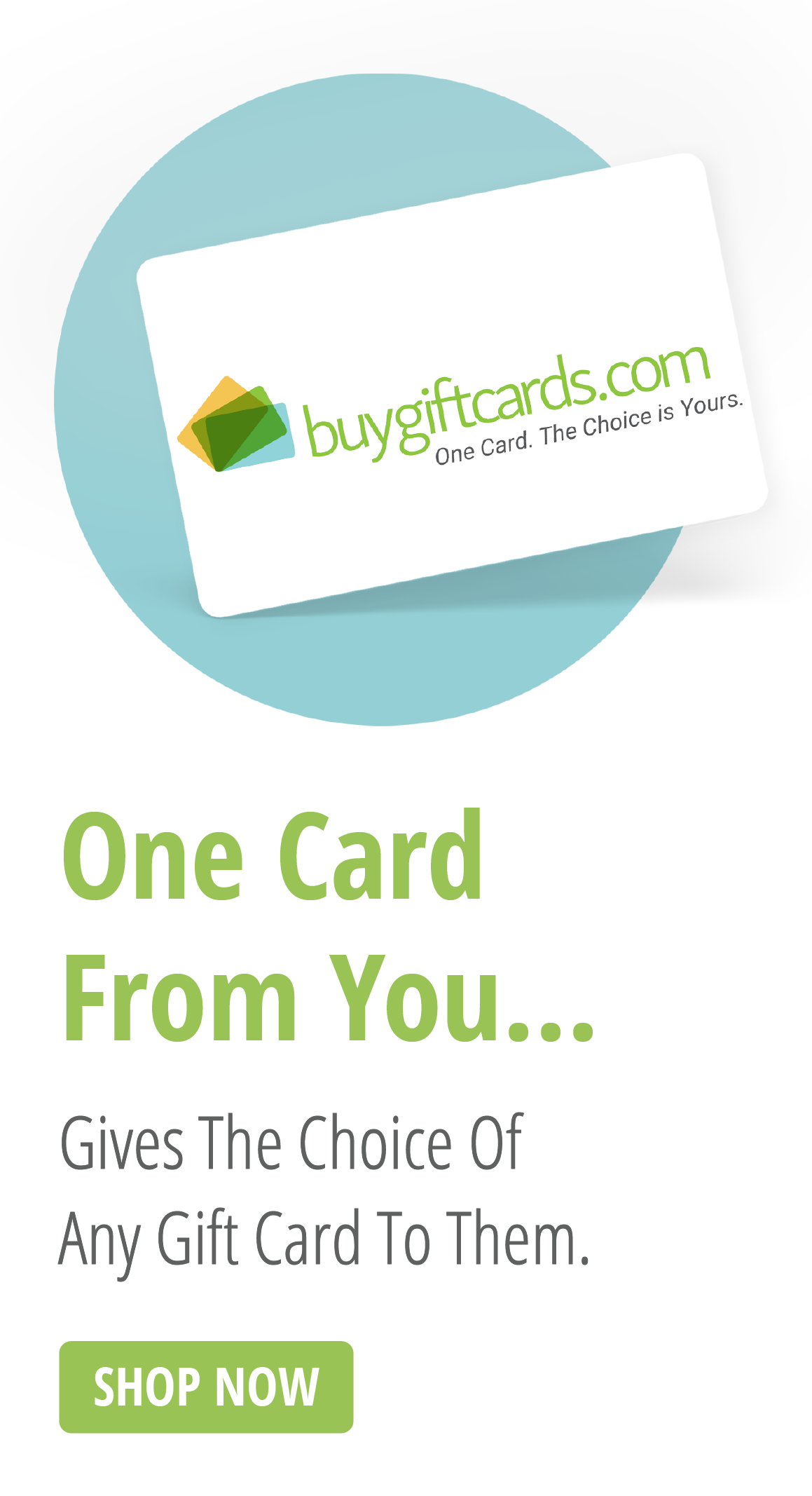One Card From You Give Them Hundreds of Choices